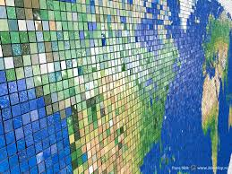 World Map North America by Mosaic Tiles And Peeling Paint Three Special World Maps