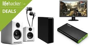 lifehacker best black friday deals sites dealhacker denon earphones audioengine speakers 24 inch monitor
