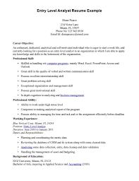 exle of business analyst resume sle business analyst resume entry level business analyst goals