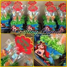 these ariel little mermaid centerpieces are great for a little