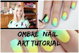 ombre nails tutorial the nail trail australia day 2015 youtube