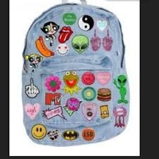 backpack iron on patches on the hunt