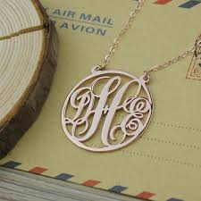 initial monogram necklace monogram necklace personalized three initial monogram necklace