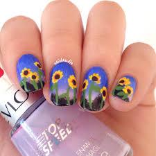 32 glaring sunflower nail art nail design ideaz