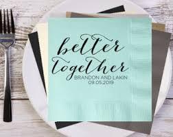 wedding cake napkins wedding date napkins etsy