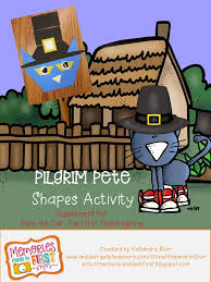 memories made in pilgrim pete a shape activity for pete