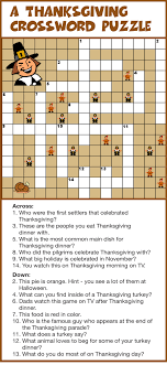 a thanksgiving crossword puzzle hollys restaurant