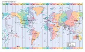 Map Of Timezones In Usa by World Time Zones Wall Map Maps Com