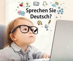 si e ordinateur sprechen sie parlez vous allemand textes avec bébé fille