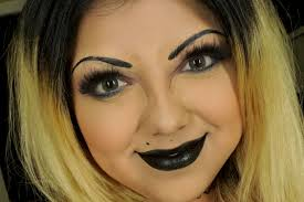 bride of chucky makeup tutorial halloween makeup