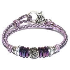 braided leather wrap bracelet images Mini juliette in purple braided leather wrap bracelet by lizzy james jpg