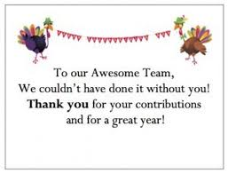 thanksgiving messages for employees free design and templates