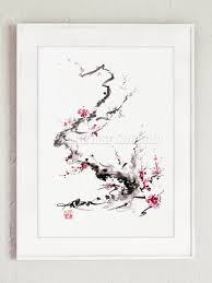 cherry blossom branch japanese cherry tree japan style home zoom