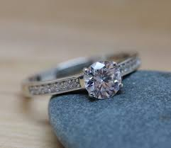 gold or silver wedding rings 1ct lab diamond solitaire ring available in white gold or sterling