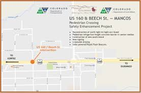 Colorado Highway Map by Town Of Mancos To Construct New Pedestrian Crossing U2014