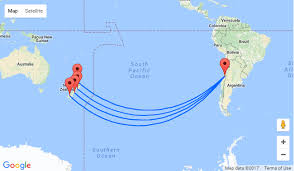 auckland australia map non stop from auckland to santiago chile for nz 1015 other nz