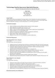 Qa Testing Sample Resume by Qa Automation Engineer Cover Letter Etl Tester Resume Resume
