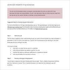Hr Help Desk Job Description Job Description Template U2013 28 Free Word Excel Pdf Format
