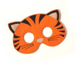Kids Tiger Halloween Costume Kids Tiger Mask Pony Tiger Costume Felt Mask Kids Face