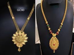 gold necklace designs simple images Latest gold 10 grams simple necklace designs jpg