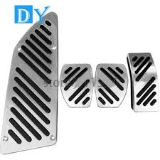 no drill aluminum modified styling foot rest pedals gas