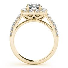 square halo side stone diamond engagement ring flower shank