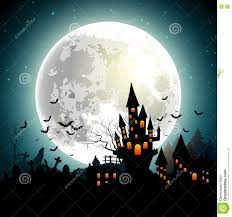 halloween night background halloween illustration of mysterious night landscape with castle