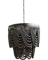 Creative Co Op Chandelier Amazing Deal Creative Co Op Large Black Metal And Wood Bead