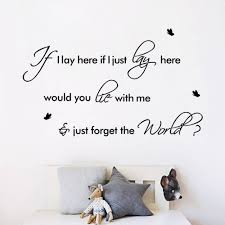 lie with me forget the world creative quote home decoration wall lie with me forget the world creative quote home decoration wall decal bedroom new couple wedding room diy vinyl wall sticker in wall stickers from home