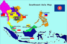 south asia countries map map of countries in southeast asia major tourist