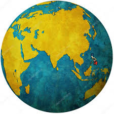 Philippines On World Map by Philippines On Globe Map U2014 Stock Photo Michal812 25717037