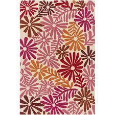 Pink Indoor Outdoor Rug Artistic Weavers Bully Choop Pink 3 Ft 3 In X 5 Ft 3 In