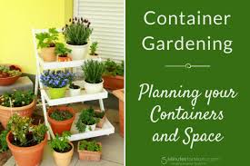container gardening gardening planning containers and space