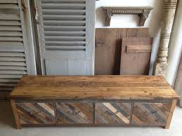 Entryway Storage Bench Reclaimed Pallet And Barn Wood 4 Drawer Mud Room Bench Entryway