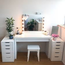 Diy Vanity Desk Mirrored Dressing Table Set Ebay Tags 35 Awesome Dressing
