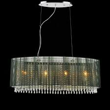 Chandelier With White Shade Brizzo Lighting Stores 35