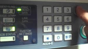 sharp arm 550 620 700 reset machine with error code youtube