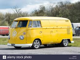 volkswagen yellow 1965 yellow vw volkswagen split screen double door panel van at a
