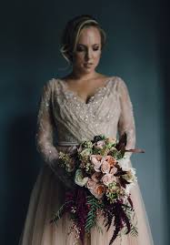 hello wedding dress flowers to complement a stunning from hello may