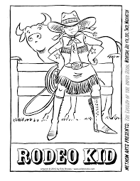 rodeo coloring pages itgod me