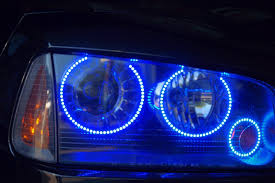 2008 dodge charger lights 2008 dodge charger rt blue halo rings mr kustom auto