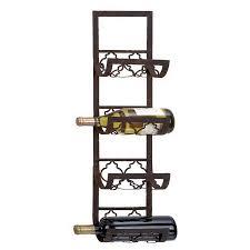 shop woodland imports 4 bottle wall mount wine rack at lowes com