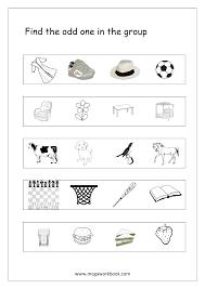 Free Printable Math Worksheets Kindergarten Free General Aptitude Worksheets Odd One Out Megaworkbook