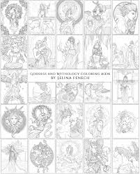goddess and mythology colouring book by selina fenech
