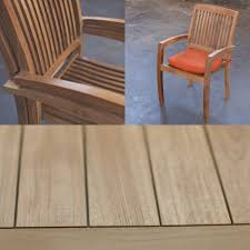 Stackable Chairs For Dining Area Loveteak Warehouse Sustainable Teak Patio Furniture