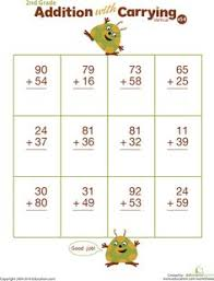 double digits practice vertical addition with carrying 6