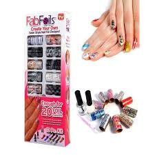 buy as seen on tv fab foils nail art kit online at best price in