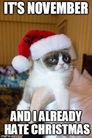 November Meme - grumpy cat christmas meme imgflip