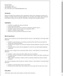 Resume For Flight Attendant Job by Download Entry Level Flight Attendant Resume
