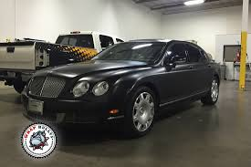 bentley black matte bentley continental flying spur satin black car wrap wrap bullys